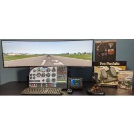 Super Ultra-Wide Dual Display Training System for PilotWorkshops
