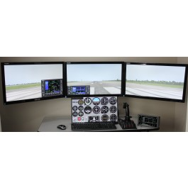 Quad Display Training System for PilotWorkshops