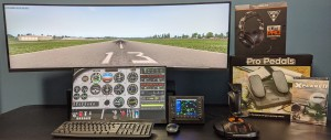Super Ultra-Wide Dual Display Training System for PilotWorkshops