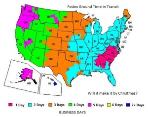 Will ground shipping it make it by Christmas?  Click to find out.