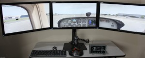 Triple Display Training System for PilotWorkshops